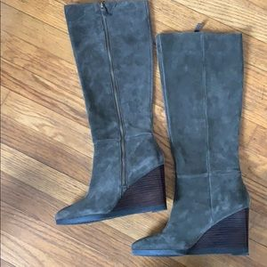 Unworn, tall boots. Franco Sarto, leather
